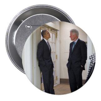 Presidents Barack Obama Bill Clinton Pin