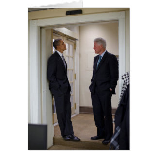 Presidents Barack Obama & Bill Clinton Greeting Card