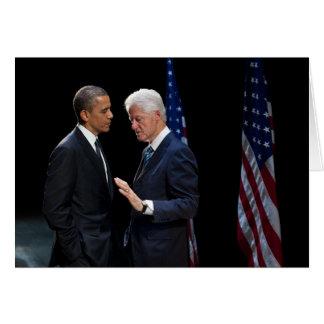 Presidents Barack Obama & Bill Clinton Greeting Card