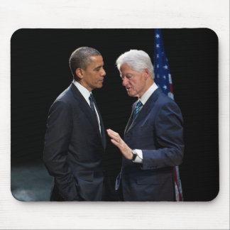 Presidents Barack Obama Bill Clinton Mouse Pad