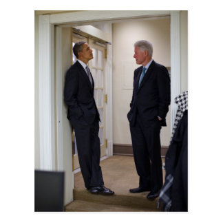 Presidents Barack Obama & Bill Clinton Postcard