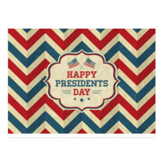 presidents day chevron postcard