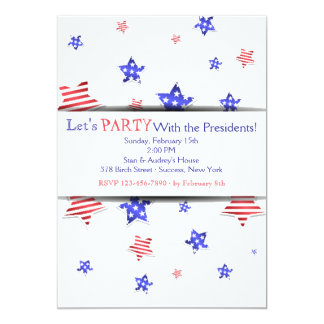 President's Day Stars Invitation