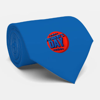 President's Day Text USA Celebration Tie