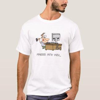 Press Any Key Funny T-shirt