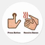 press button receive bacon stickers
