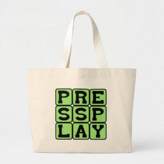 Press Play, Start The Show Jumbo Tote Bag