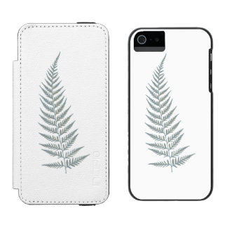 Pressed Botanical Fern Leaf - Mix and Match Color Incipio Watson™ iPhone 5 Wallet Case