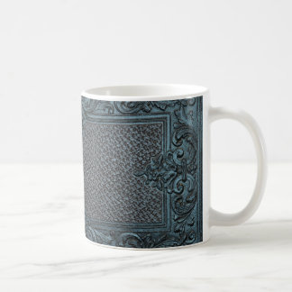 pressed leather sculpture furniture vintage decora coffee mug