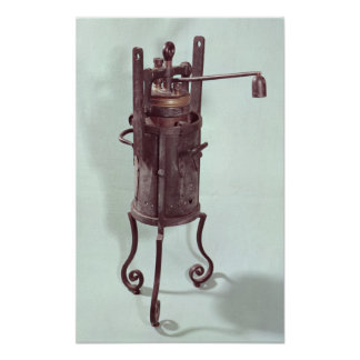 Pressure cooker invented by Denis Papin 1679 Print