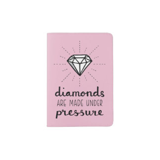 Pressure make Diamonds Pink Passport Cover