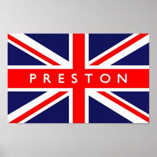 Preston UK Flag Poster