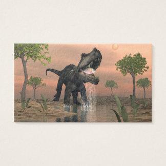 Prestosuchus dinosaur fishing - 3D render Business Card