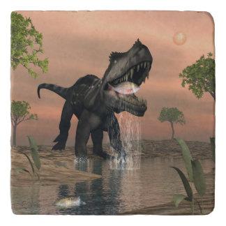 Prestosuchus dinosaur fishing - 3D render Trivet