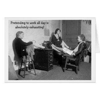 Pretending to Work, Card