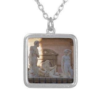 pretoria Piazza della Vergogna Silver Plated Necklace