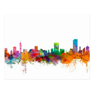 Pretoria South Africa Skyline Postcard