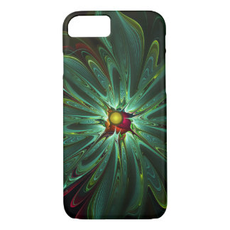 Pretty Abstract Aqua Flower Case