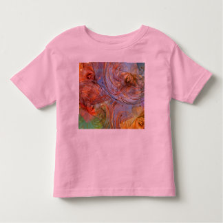 Pretty Abstract Floral Toddler T-Shirt