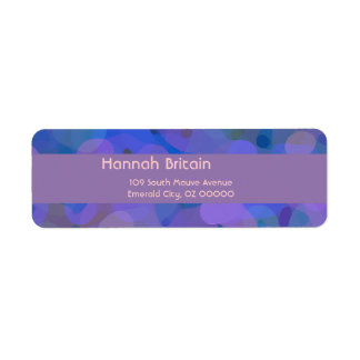 Pretty Abstract in Blue, Purple, and Green Return Address Label