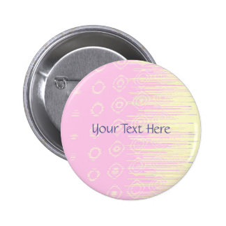 Pretty Abstract in Pale Pink and Yellow 6 Cm Round Badge