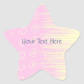 Pretty Abstract in Pale Pink and Yellow Star Sticker