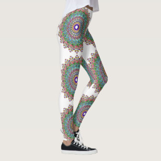Pretty Abstract Mandala Patterned Leggings