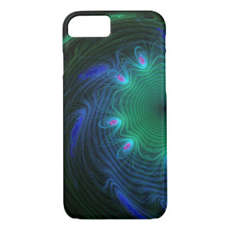 Pretty Abstract Peacock Feather Swirls Case