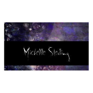 Pretty Abstract Purple Abalone Decay Pack Of Standard Business Cards