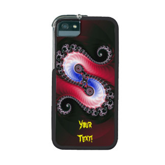 Pretty Abstract Swirl Red Blue Cover For iPhone 5