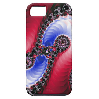 Pretty Abstract Swirl Red Blue iPhone 5 Cover