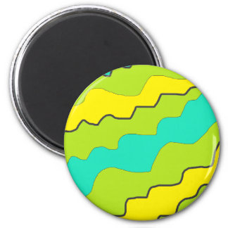 Pretty Abstract Yellow and Lime Green Magnet