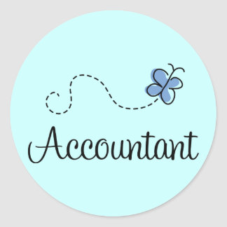 Pretty Accountant Round Sticker