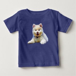 Pretty Adorable Small Puppy Drawing Baby T-Shirt