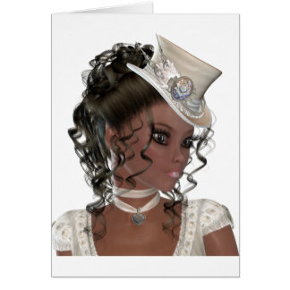 Pretty African American Woman Greeting Card
