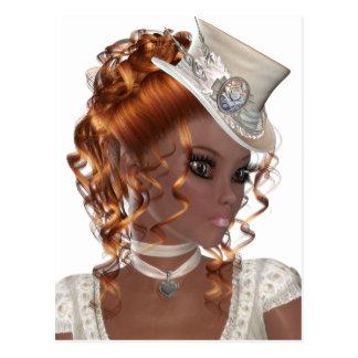 Pretty African American Woman Postcard