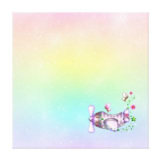 Pretty Airplane Pixel Art Canvas Prints