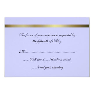 Pretty All Purpose Wedding Response Card 9 Cm X 13 Cm Invitation Card