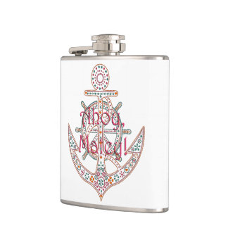 Pretty Anchor Hip Flask