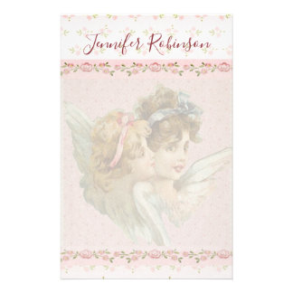 Pretty and Sweet Guardian Angel Stationery