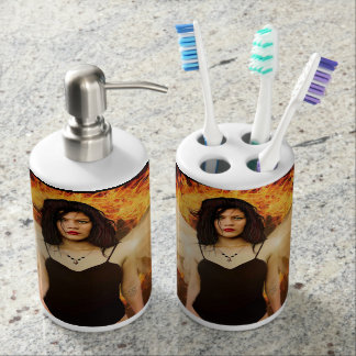 Pretty and unique bathroom accessories Gothic Ange Bathroom Set