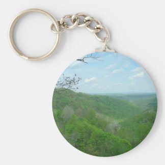 Pretty Appalachian Overlook Basic Round Button Key Ring