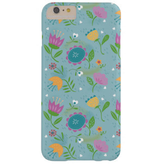 Pretty April Showers Pastel Retro Floral Pattern Barely There iPhone 6 Plus Case