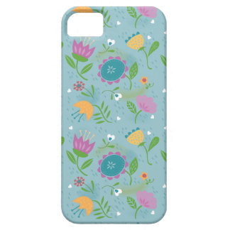 Pretty April Showers Pastel Retro Floral Pattern Case For The iPhone 5
