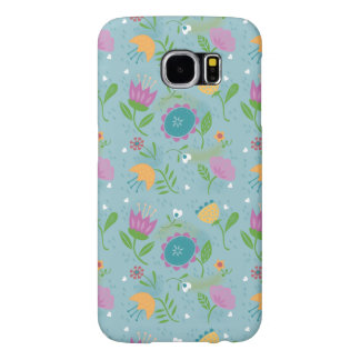 Pretty April Showers Pastel Retro Floral Pattern Samsung Galaxy S6 Cases