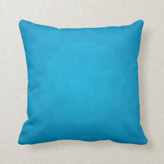 Pretty Aqua/Blue Plain > Patterned Square Pillow Cushion