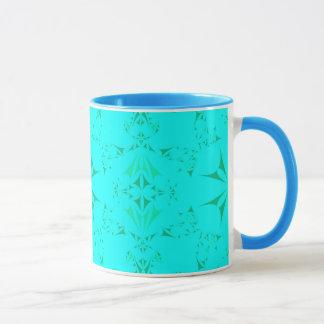 Pretty Aqua Turquoise Bohemian Tribal Pattern Mug