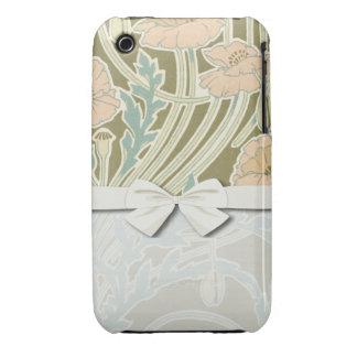 pretty art nouveau floral poppy design iPhone 3 cases