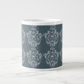 Pretty Art Nouveau Motif 20 Oz Large Ceramic Coffee Mug
