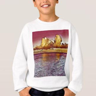 Pretty Artistic Magenta Rose Golden Seascape Sweatshirt